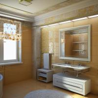 ванная в коттедже