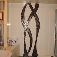 Ванная. Панно из стеклянной мозаики.