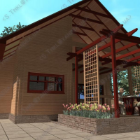 Визуализация экстерьера дома из профилированного бруса