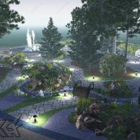 """Парк с фонтаном """"Гейзер"""". Вид2"""
