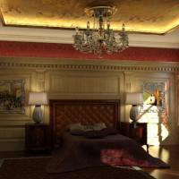 Визуализация интерьера спальной комнаты