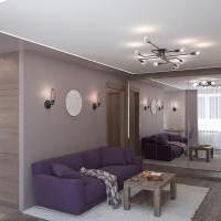 Проект интерьера квартиры. Гостиная